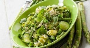 Risotto con asparagi, zucchine ricetta