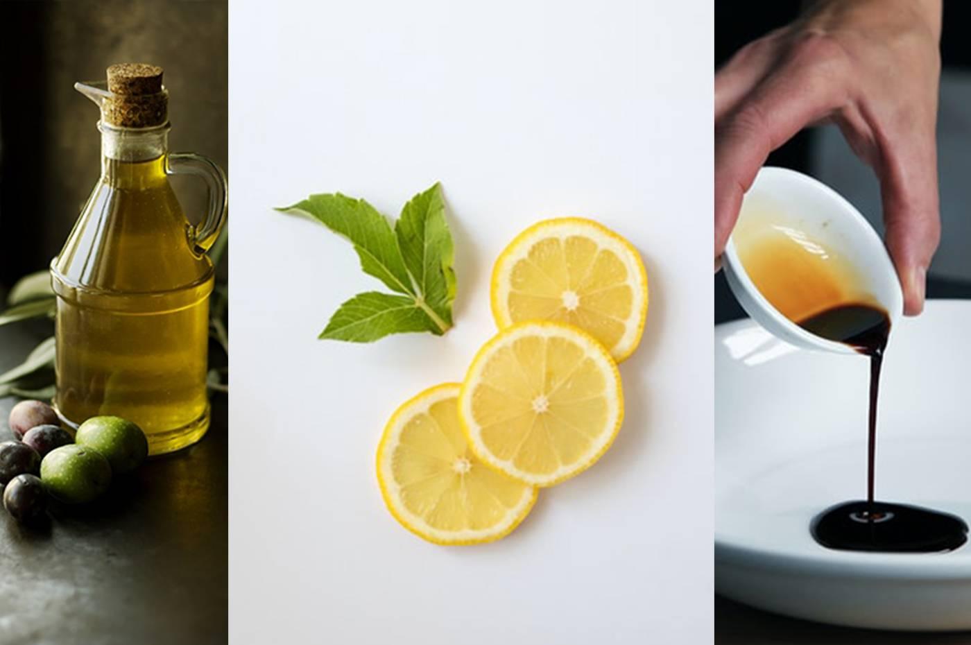 Olio limone e aceto