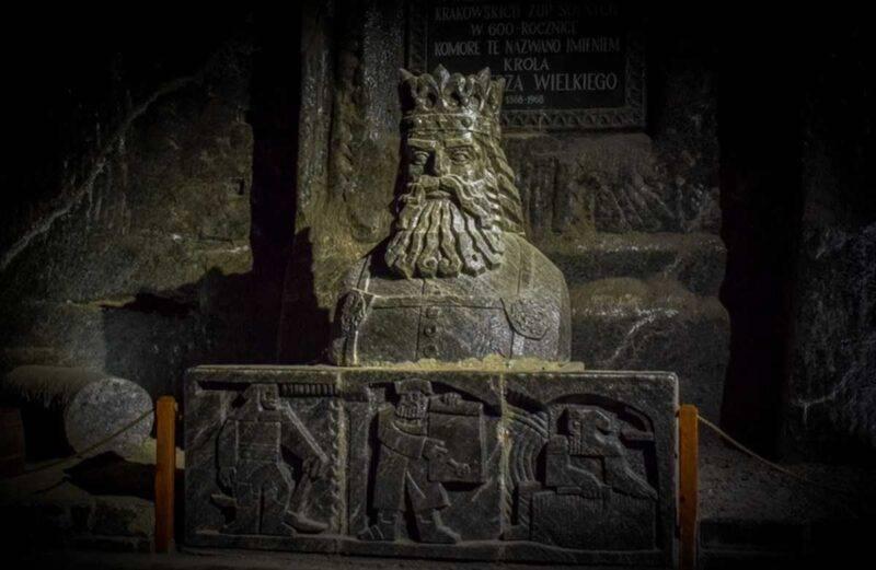 scultura di sale nella miniera di Wieliczka