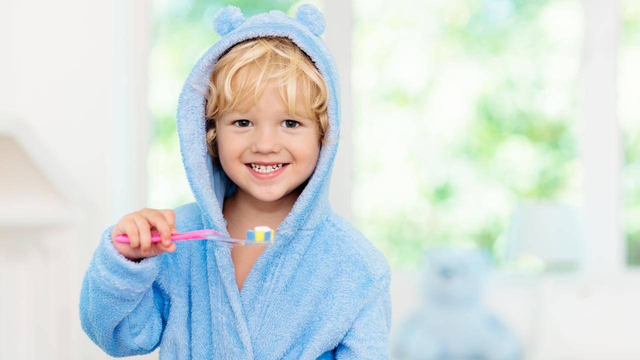 igiene orale bambini spazzolino