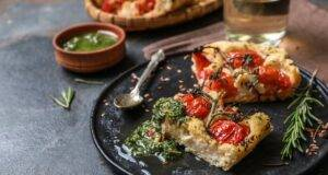 Focaccia senza glutine veloce con pesto di broccoli VIDEO RICETTA