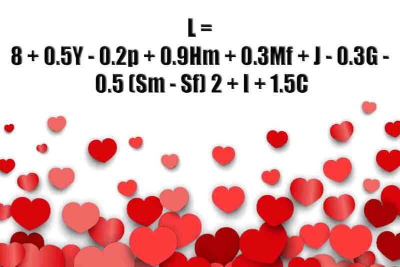 formula per calcolare il vero amore