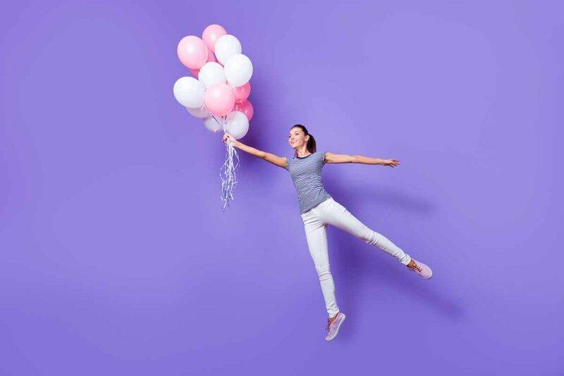 palloncini gonfi senza elio