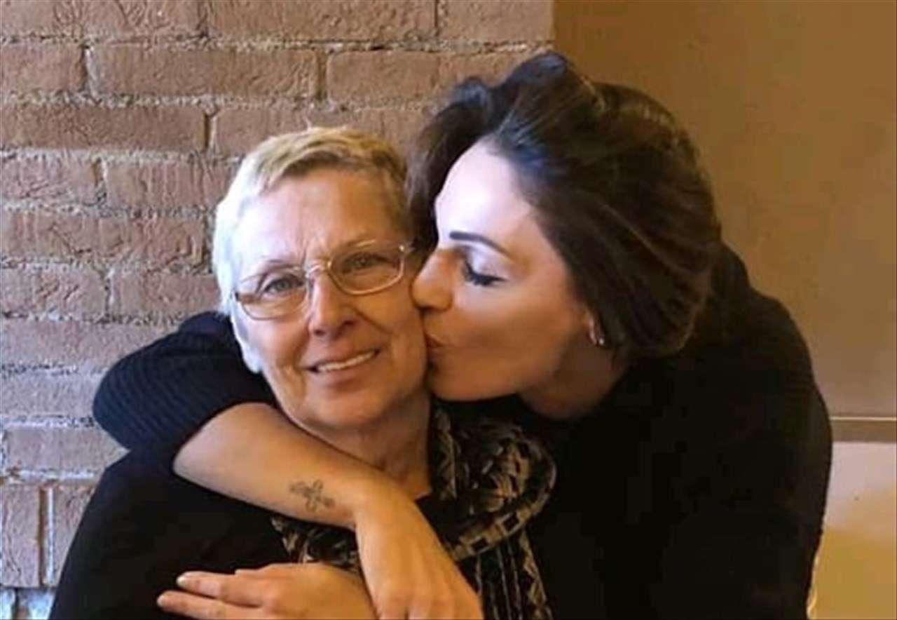 Anna Tatangelo e la madre