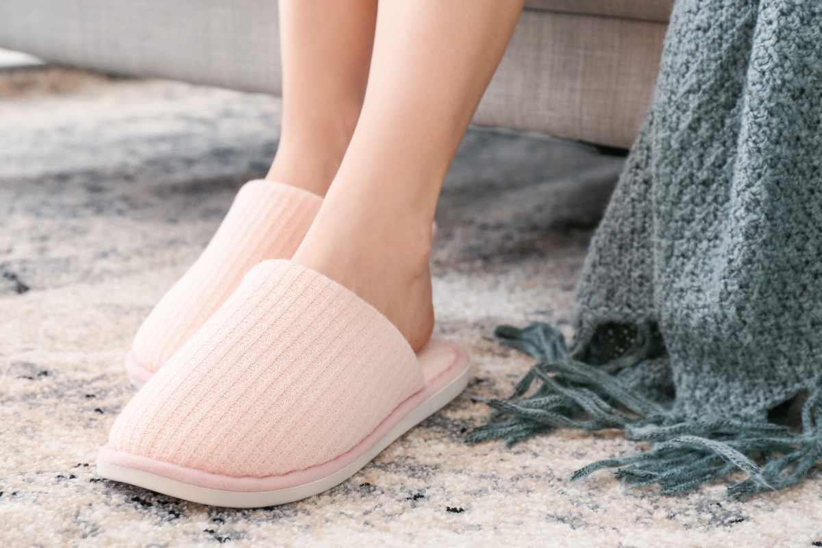 Pantofole in casa