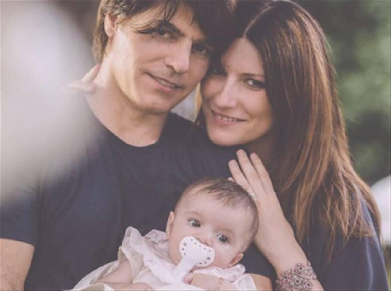 Laura Pausini e Paolo Carta con Paola
