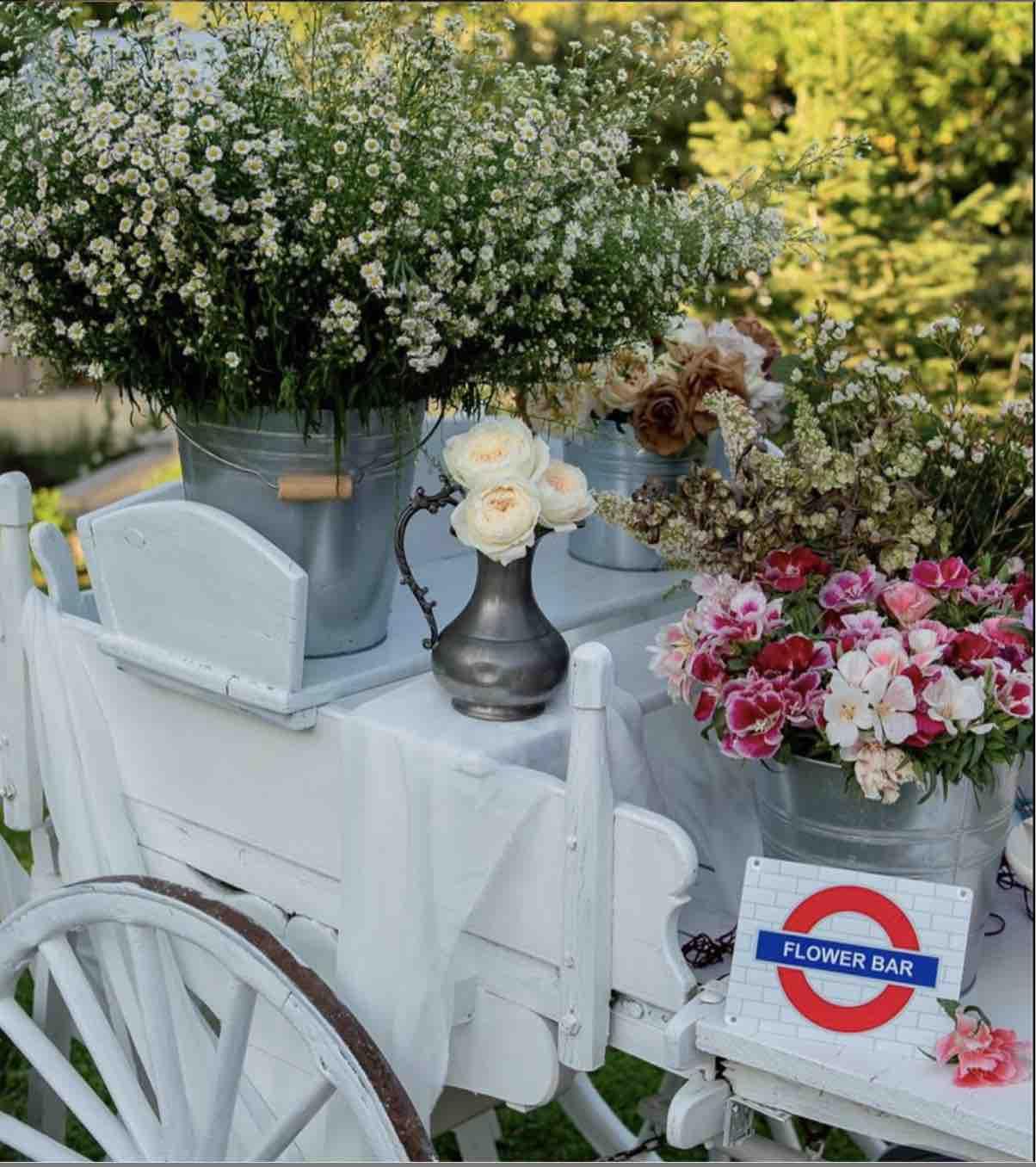 wedding flower bar