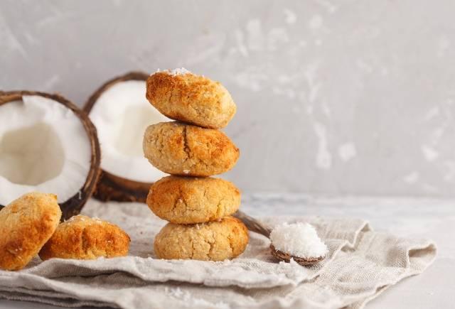Biscotti cocco e limone senza burro, senza farina e senza zucchero
