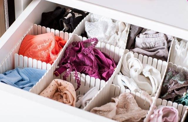 Come tenere in ordine i cassetti della biancheria: trucchi infallibili
