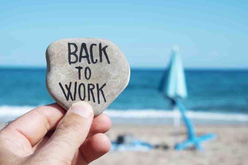 affrontare la fine delle vacanze