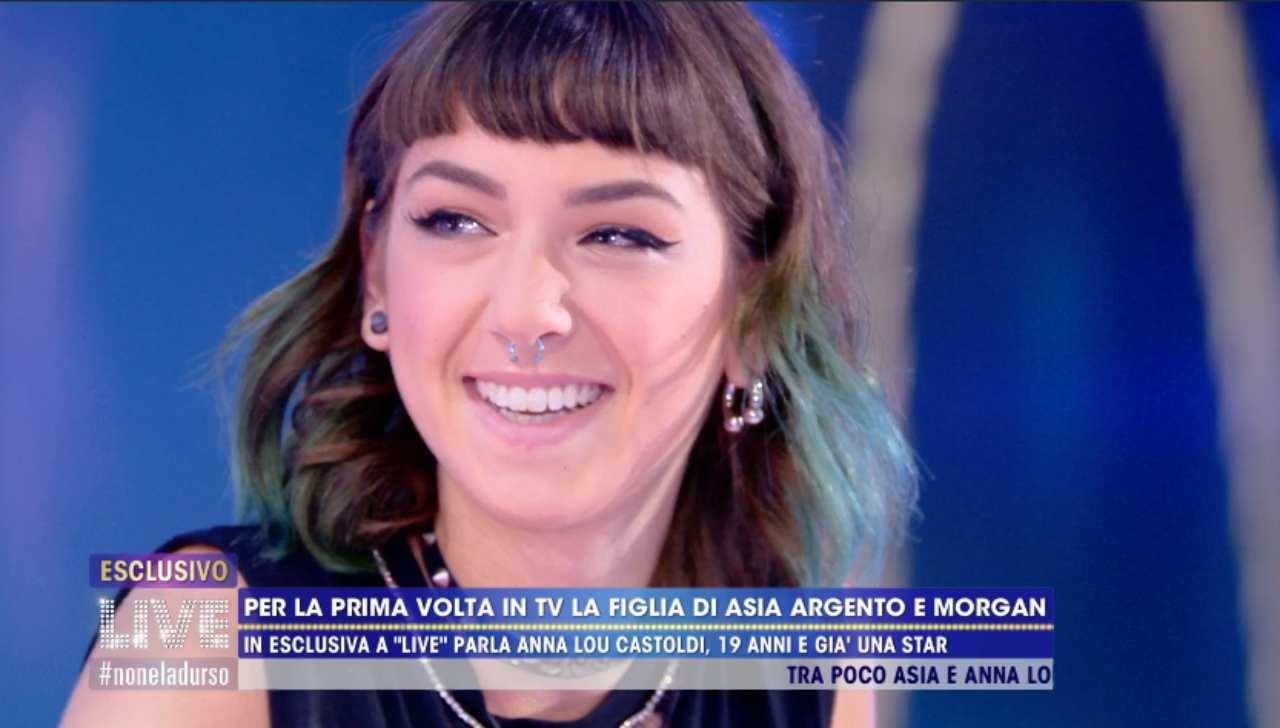 Anna Lou, figlia di Morgan e Asia Argento