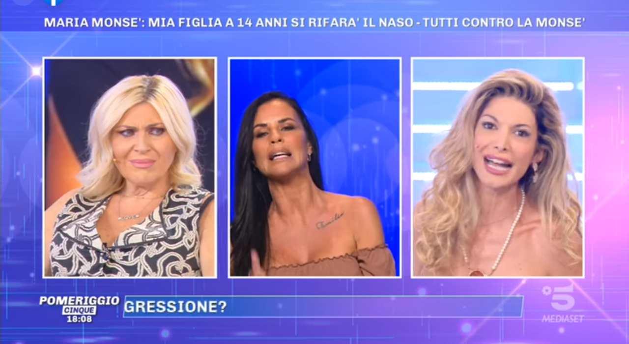 Antonella Mosetti contro Maria Monsé a Pomeriggio 5