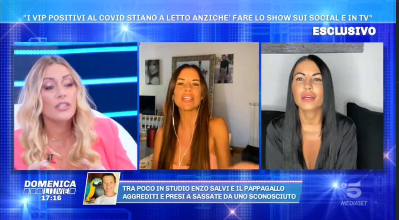 Karina Cascella contro Antonella Mosetti a Domenica Live