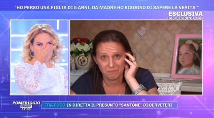 Barbara d'Urso piange a Pomeriggio Cinque