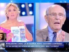 Barbara d'Urso scoop su Patrizia De Blanck