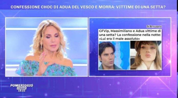 Barbara d'Urso parla della setta di Adua Del Vesco e Massimiliano Morra