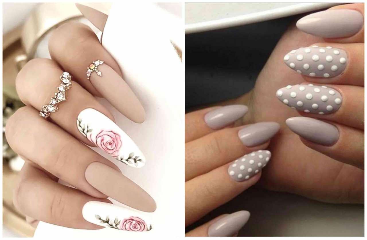 unghie a mandorla nail art