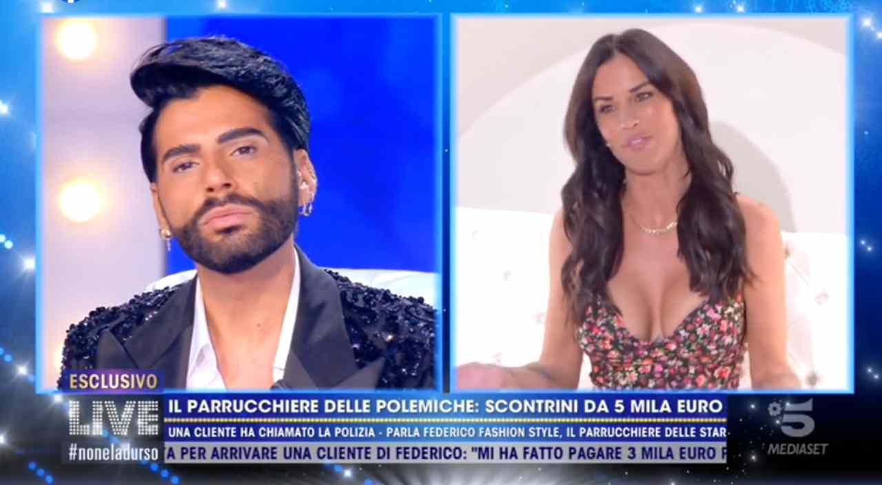 Federico Fashion Style litiga con Antonella Mosetti a Live – VIDEO