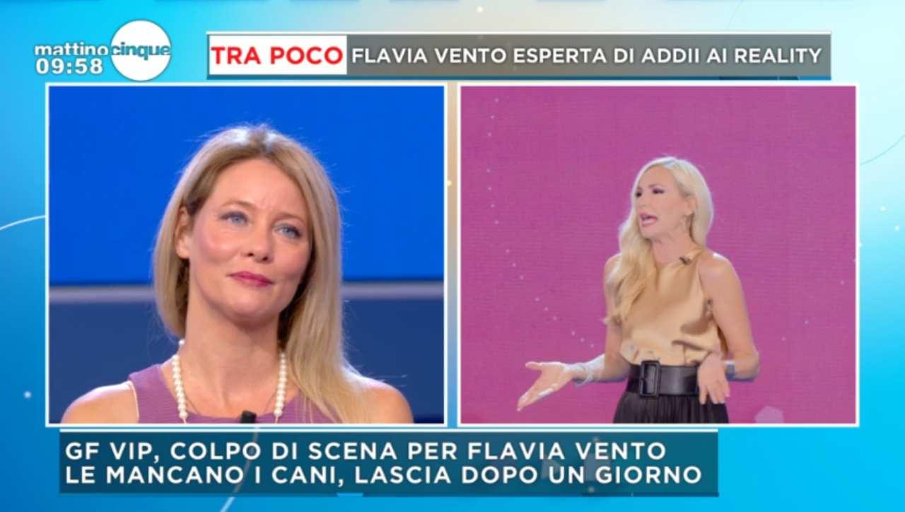 """Flavia Vento stroncata a Mattino 5: """"Ruba il lavoro agli altri!"""""""