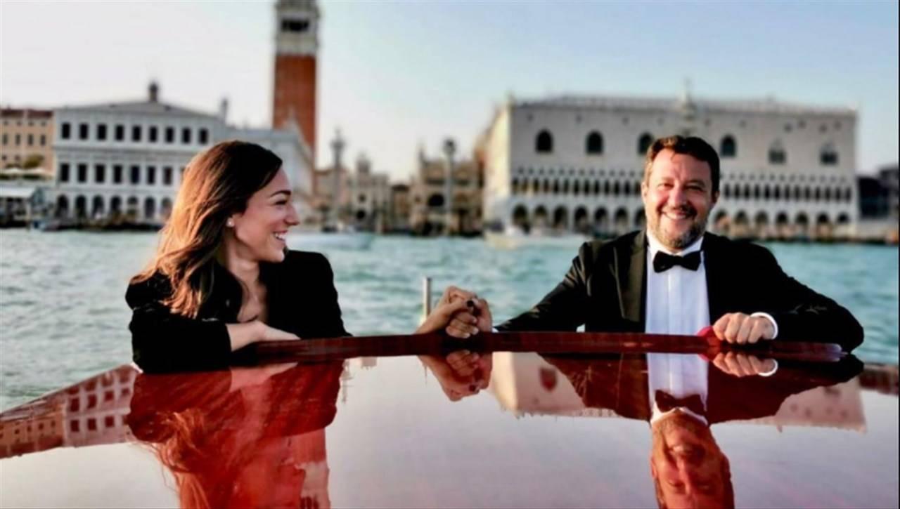 Matteo Salvini e fidanzata
