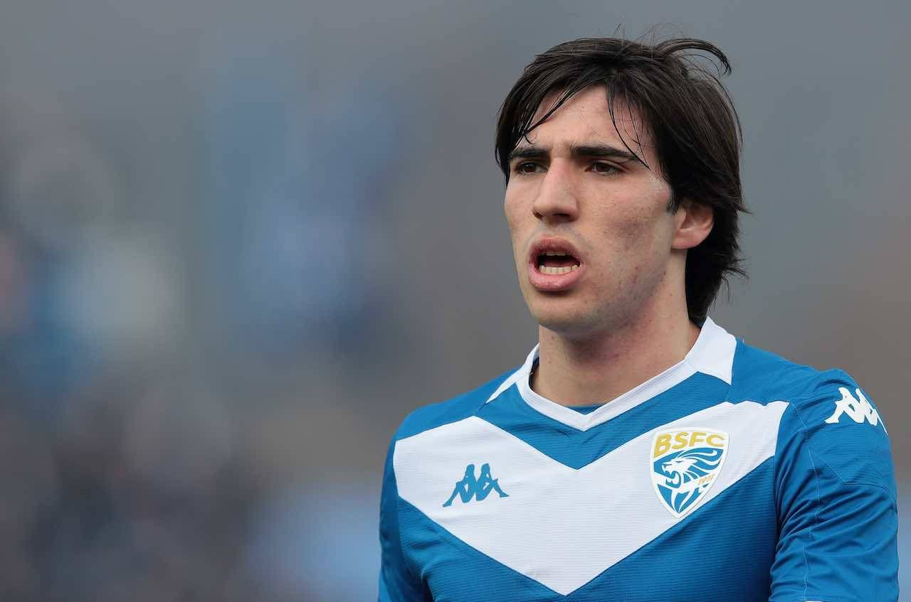 Sandro Tonali è un giocatore del Milan, la dedica alla ragazza (Getty Images)