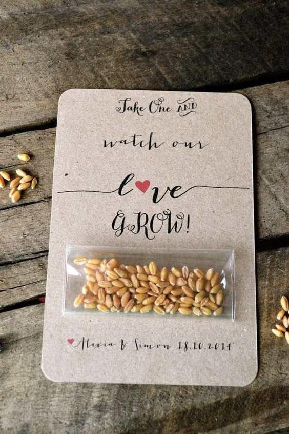 idea bomboniera semi