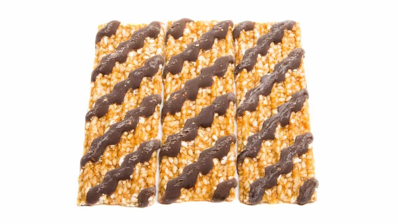 barrette sesamo e cioccolato