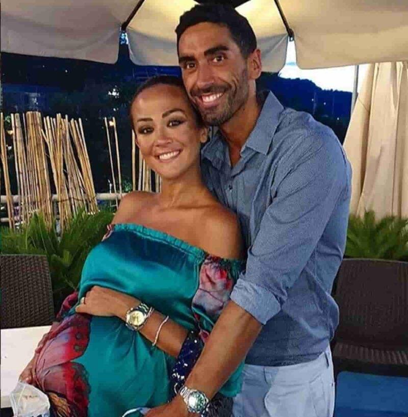 Giorgia Palmas e Filippo Magnini, prima uscita con la figlia (Getty Images)