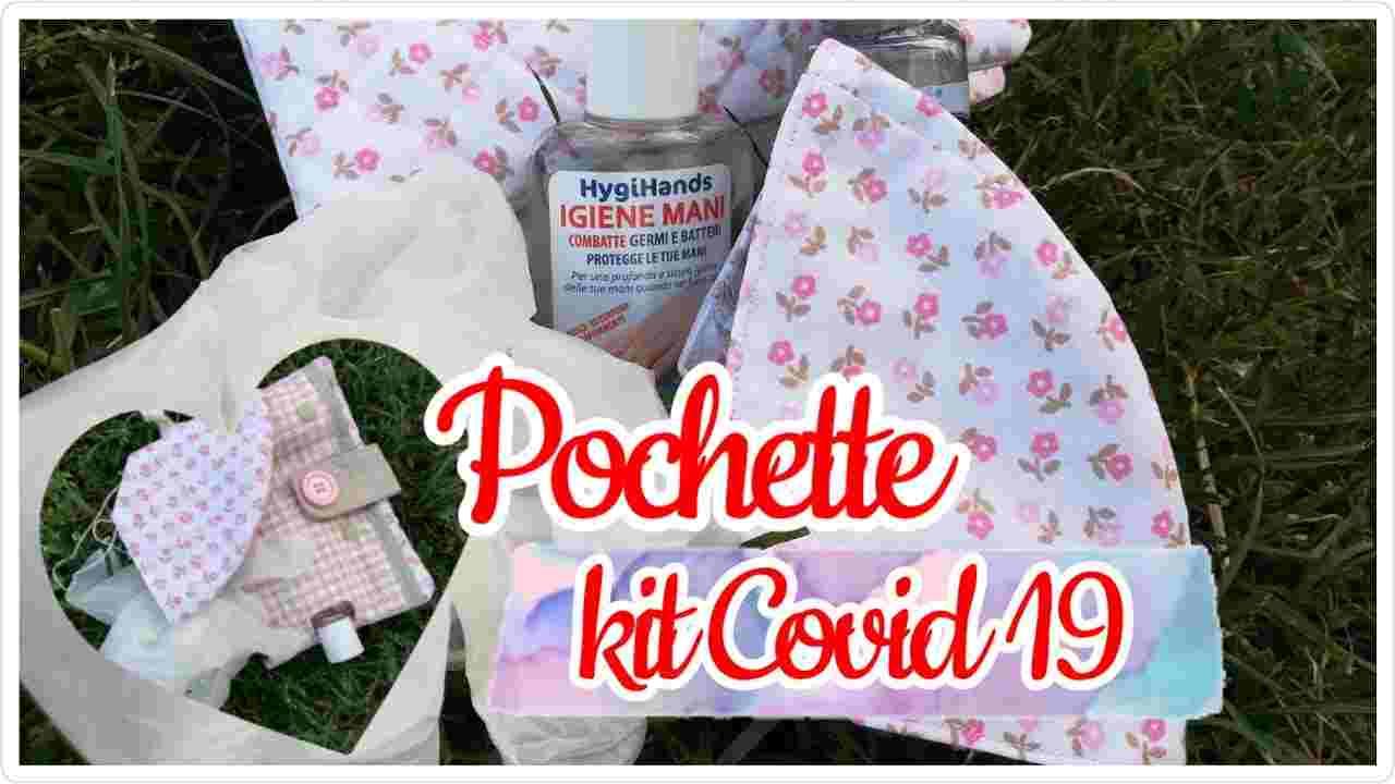 Kit Covid-19 fai da te porta mascherina e igienizzanti