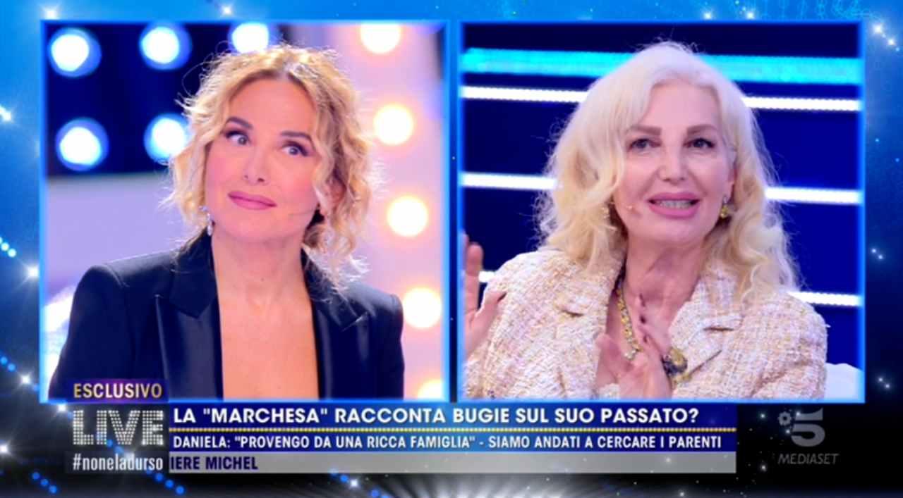 Barbara d'Urso rimprovera la Marchesa d'Aragona