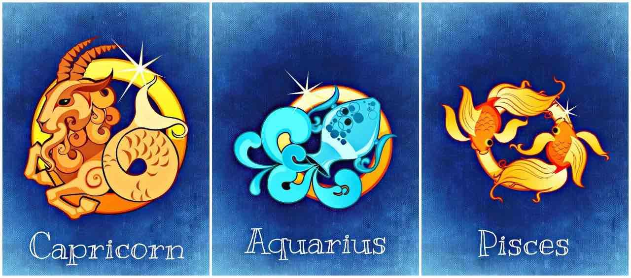 capricorno acquario pesci