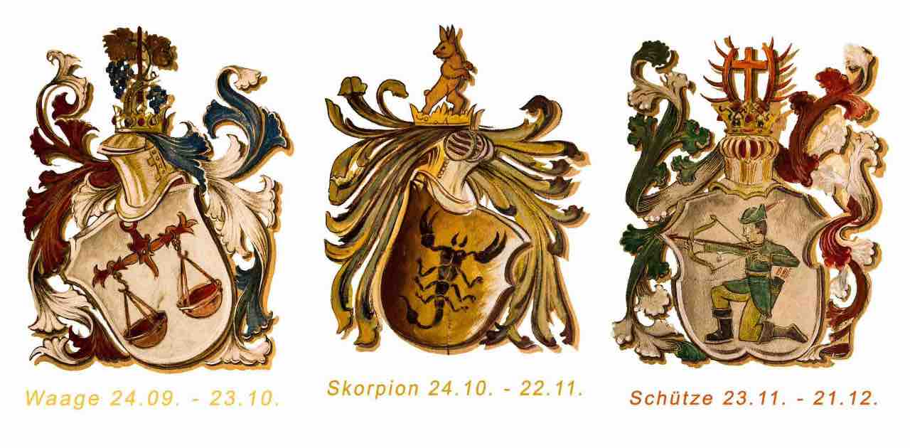 Bilancia, Scorpione, Sagittario