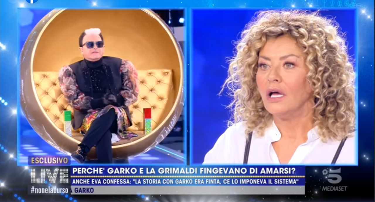Cristiano Malgioglio imbarazza Eva Grimaldi