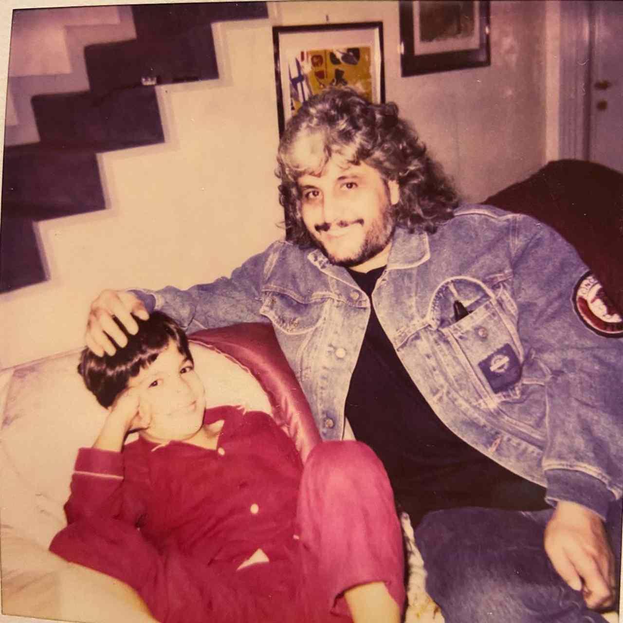 Pino Daniele e il figlio di Barbara d'Urso insieme