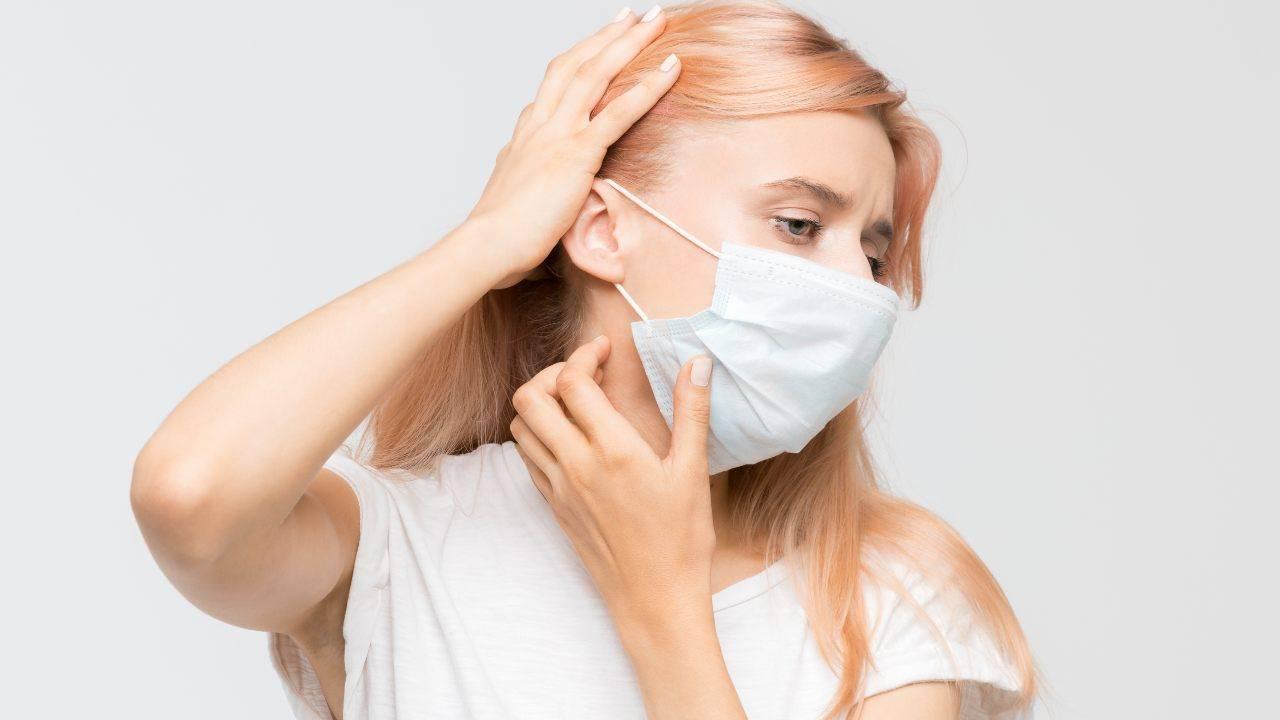 irritazioni mascherina