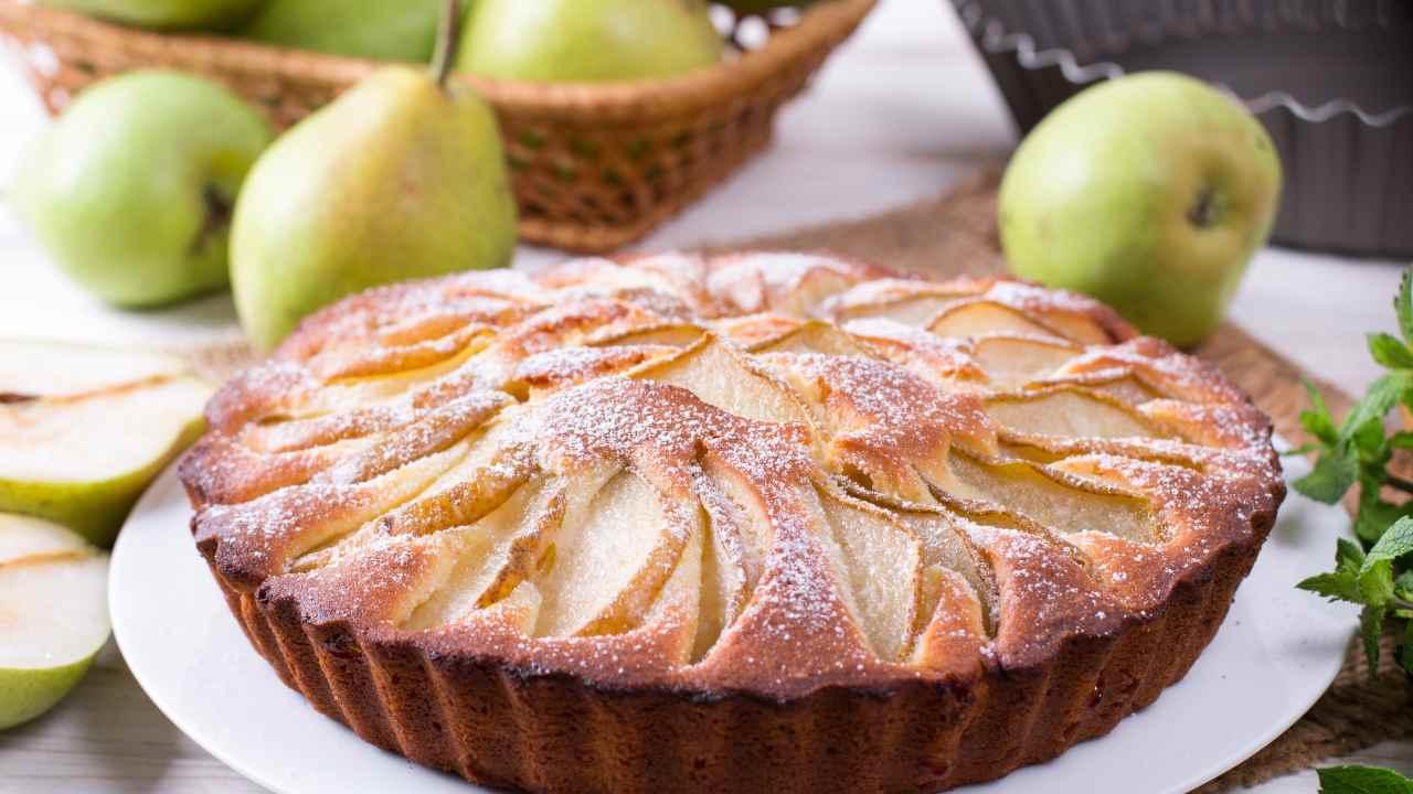 torta di pere senza burro
