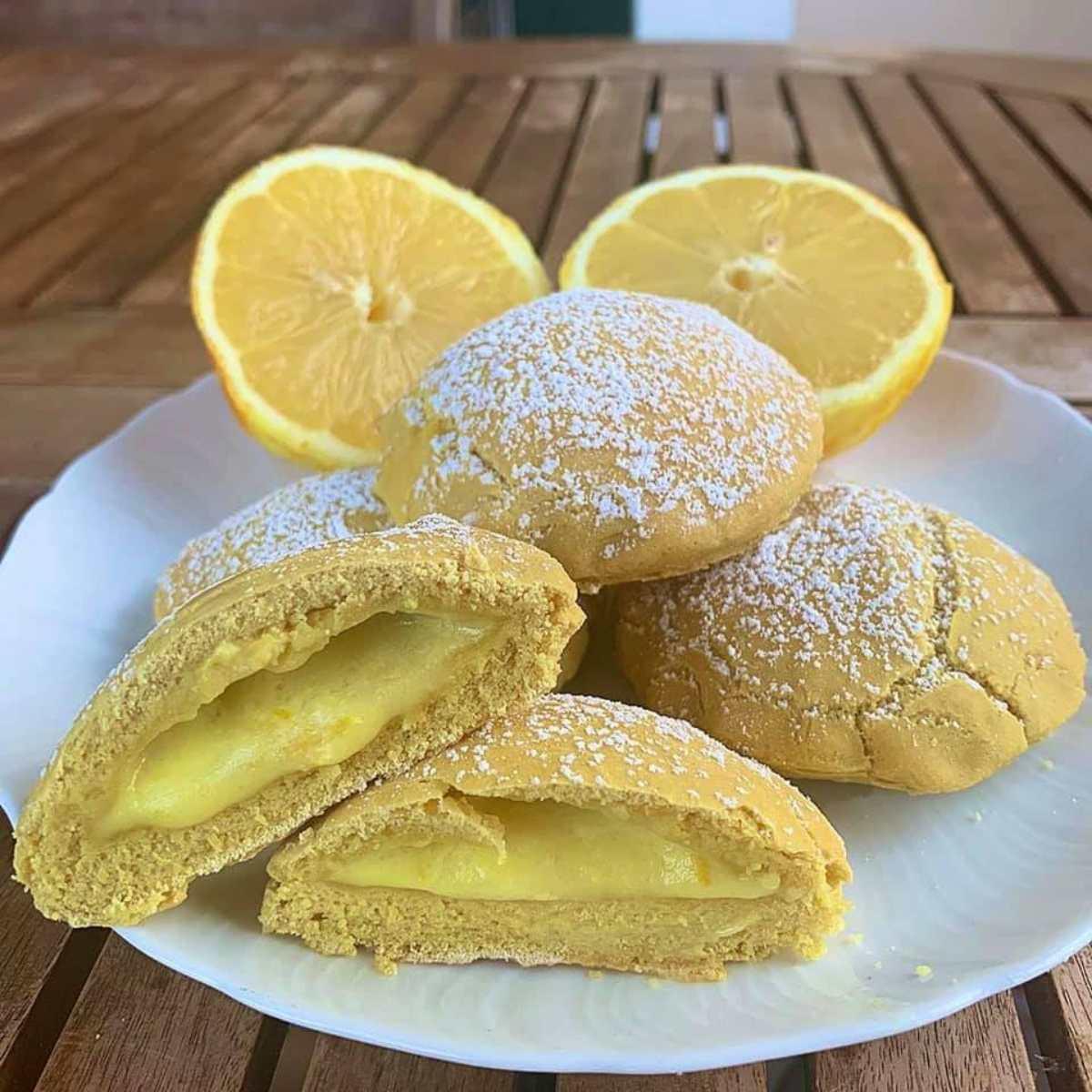 Grisbì al limone fatti in casa, senza zucchero, poche calorie