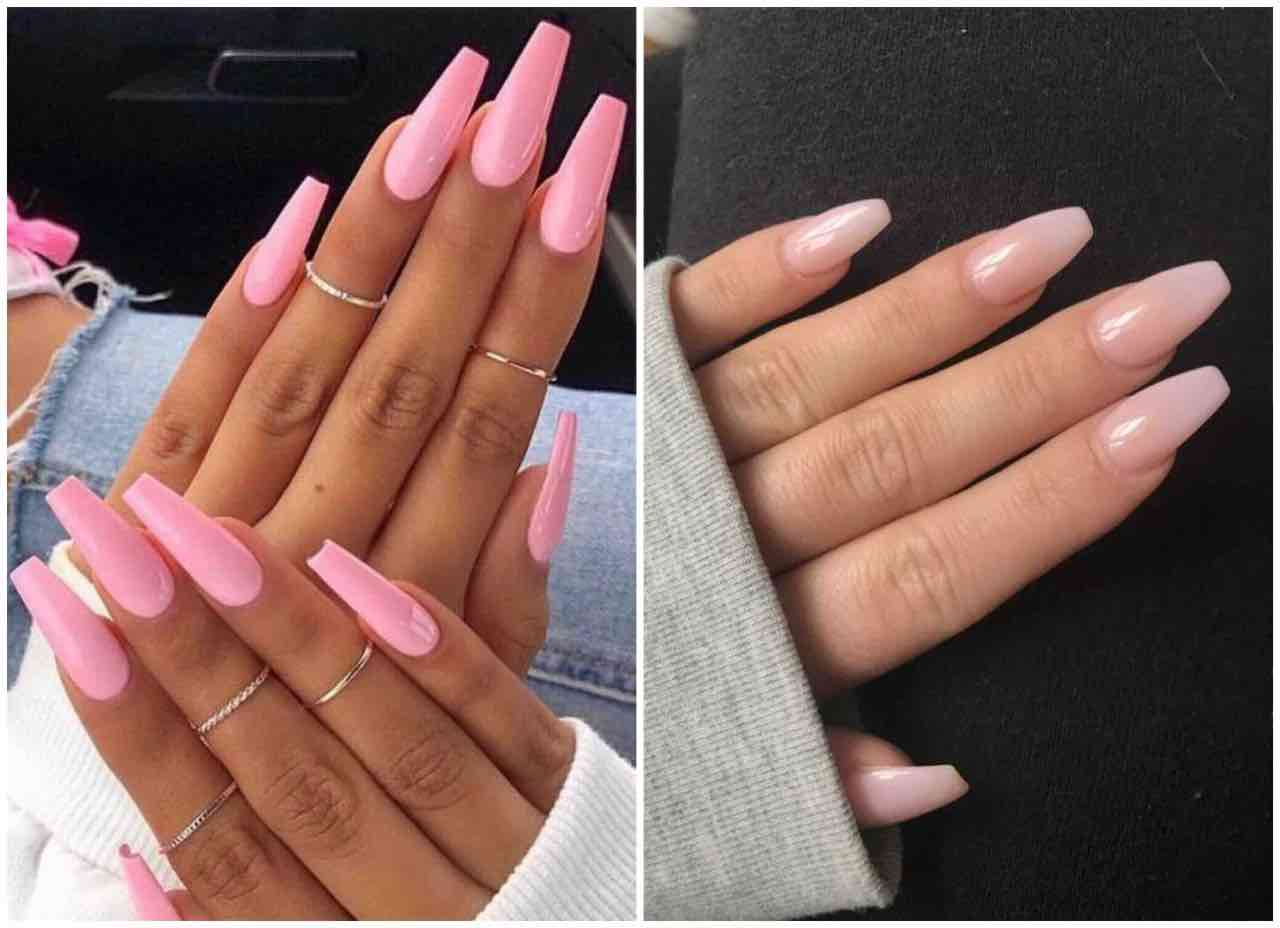 unghie a ballerina rosa