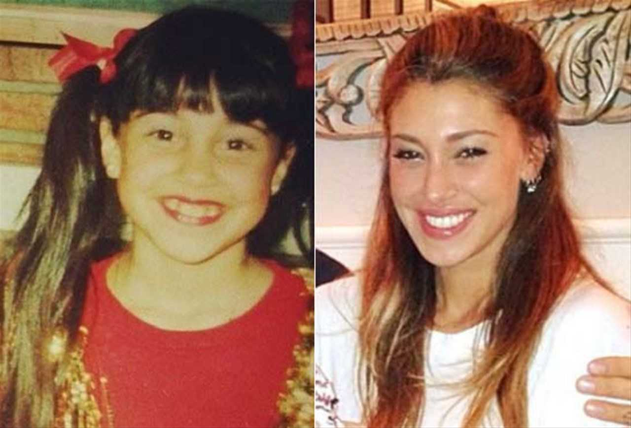 Belen Rodriguez da bambina