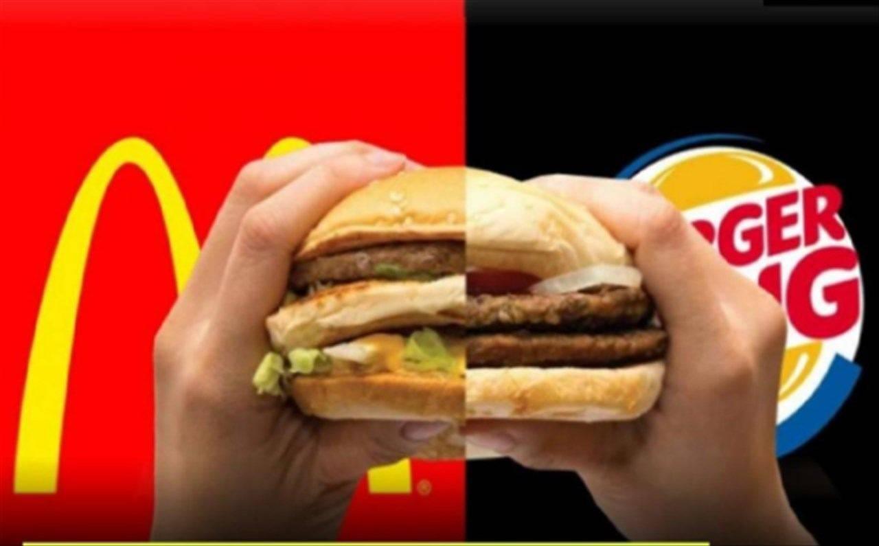 Burger king mac donalds