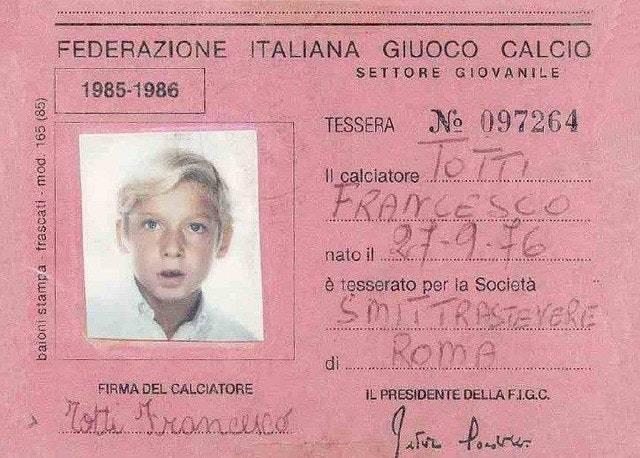 Francesco Totti da Piccolo