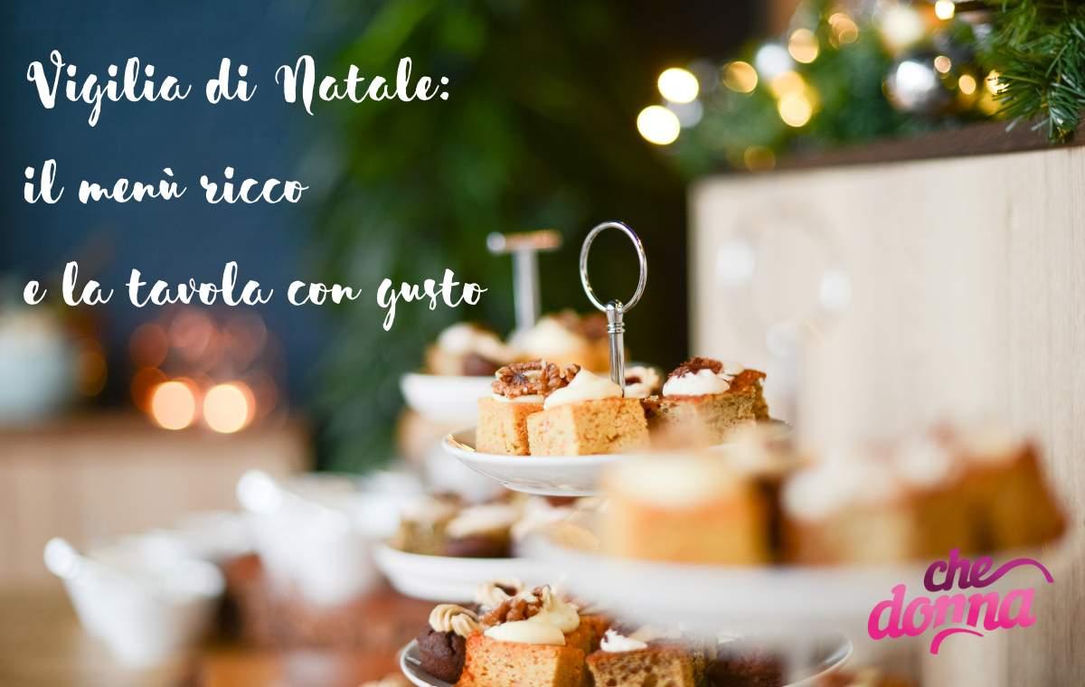 Menù e tavola per una Vigilia di Natale coi fiocchi