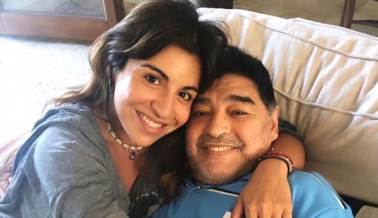 Gianinna Maradona e Diego Armando