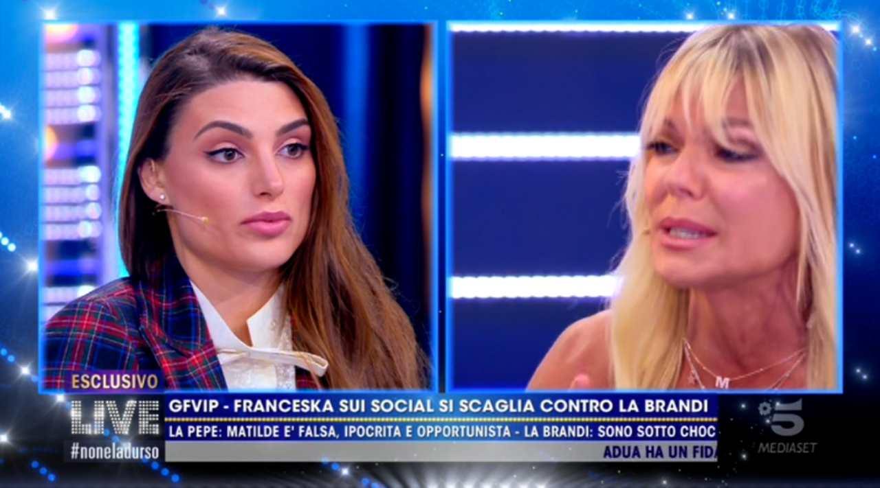 Francesca Pepe fa piangere Matilde Brandi