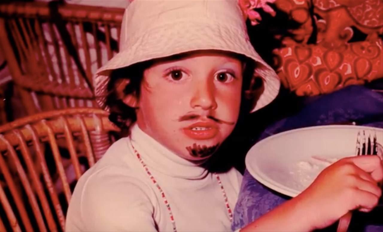 Matteo Salvini da bambino
