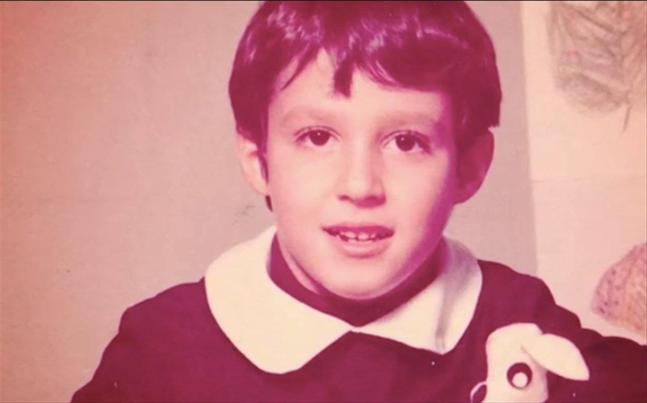 Matteo Salvini da piccolo