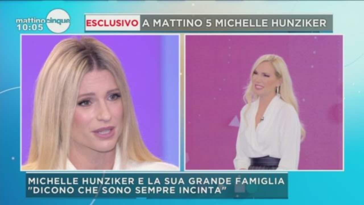 Michelle Hunziker si sfoga a Mattino 5