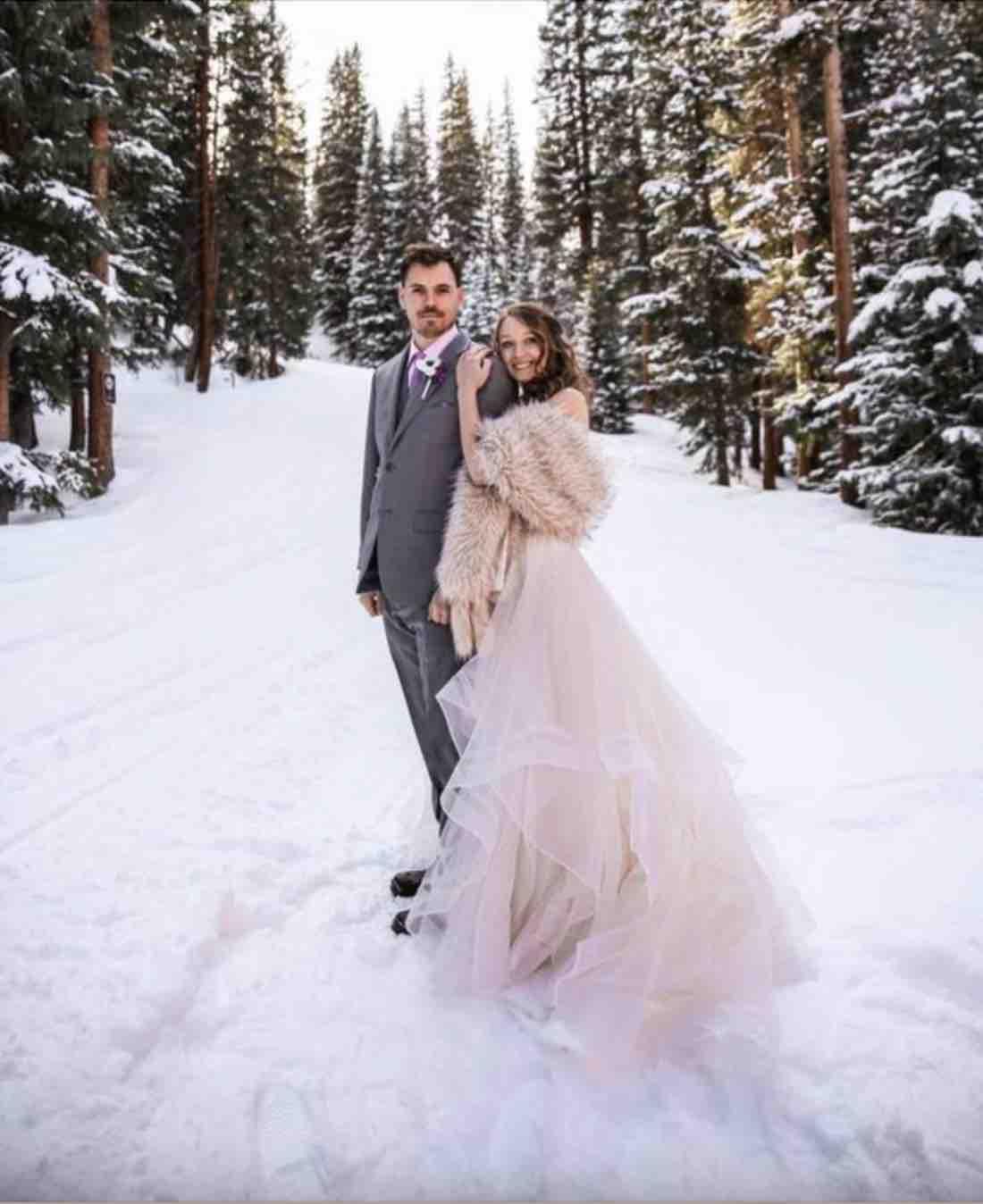 sposi matrimonio invernale