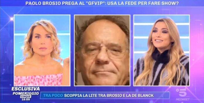 Soleil Sorge smaschera Paolo Brosio a Pomeriggio 5