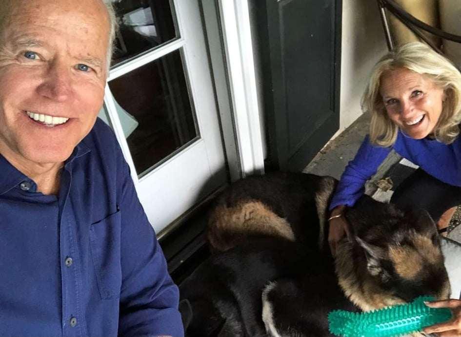 Joe Biden cani alla casa bianca
